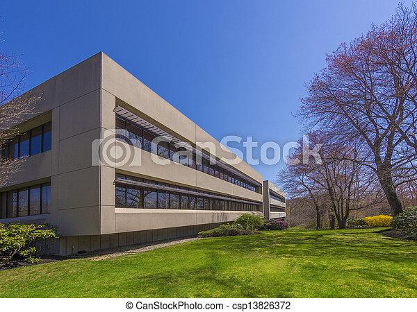 bâtiment, moderne, bureau - csp13826372