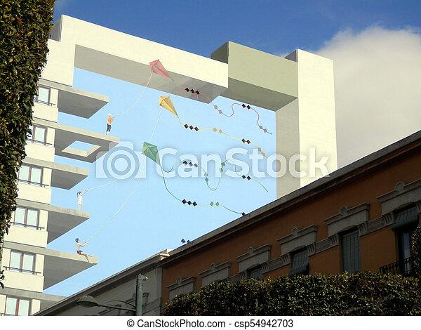 Batiment Mur Illusion Optique Batiment Ville Fevrier Depeindre