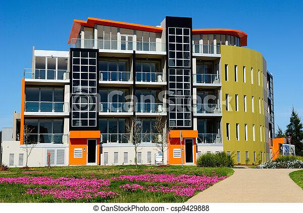 bâtiment, newly-built, moderne, bureau - csp9429888