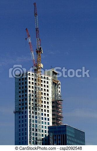 bâtiment, nouveau, construction, bureau - csp2092548