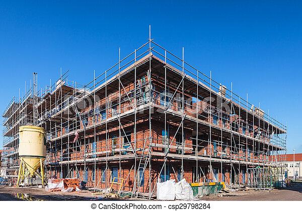 bâtiment, nouveau, construction, bureau - csp29798284