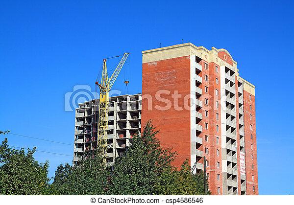 bâtiment, nouveau, construction - csp4586546