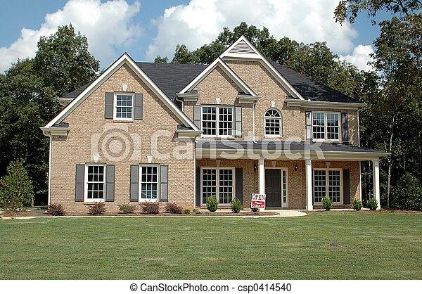bâtiment, nouvelle maison - csp0414540