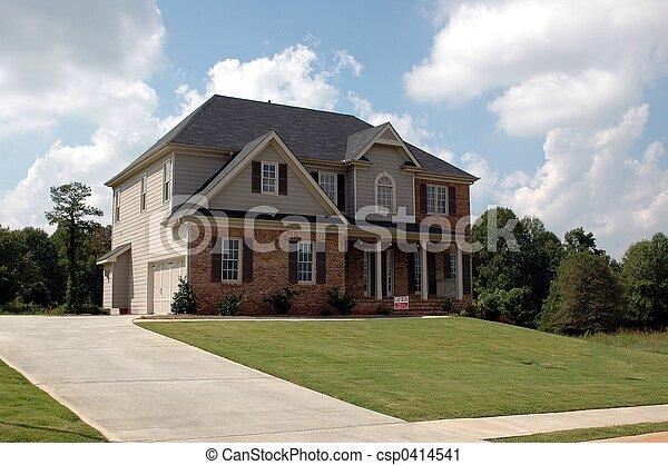bâtiment, nouvelle maison - csp0414541
