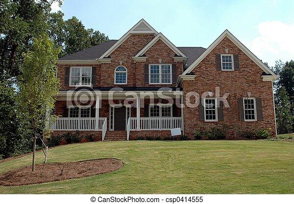 bâtiment, nouvelle maison - csp0414555