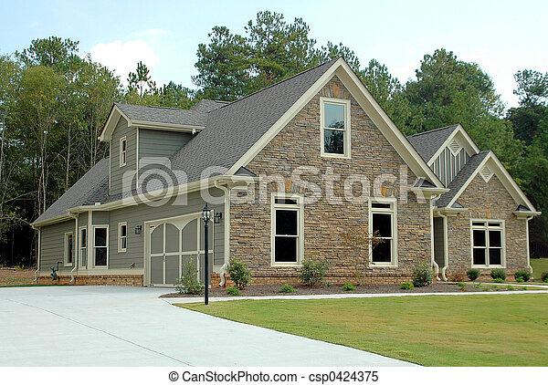 bâtiment, nouvelle maison - csp0424375