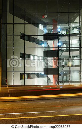 bâtiment, nuit, centre, bureau, helsinki - csp22285087