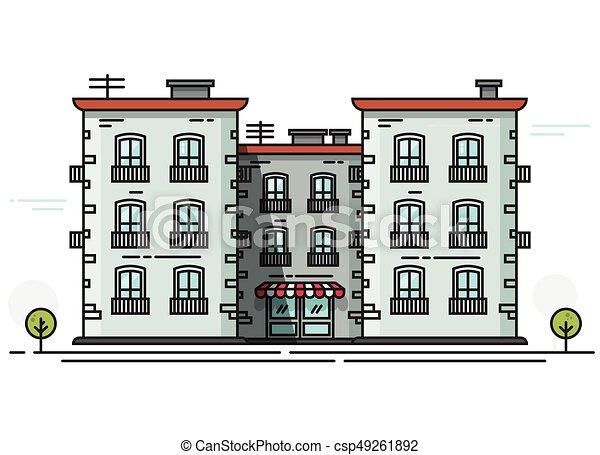 B timent plat cole constructions contour isol for Cours d architecture en ligne