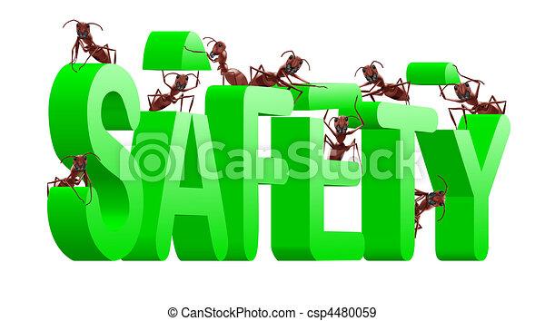 bâtiment, protéger, sécurité, assurer - csp4480059