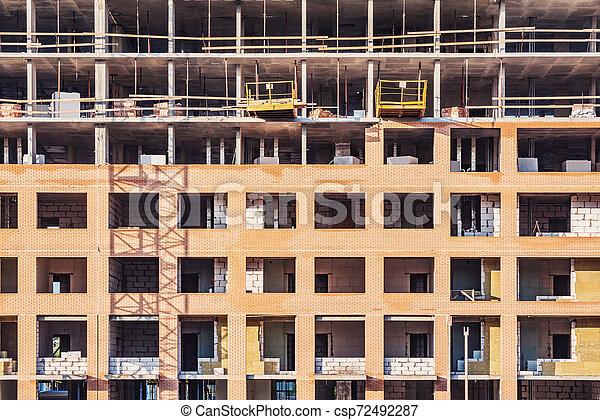 bâtiment, site., construction, extérieur, nouveau - csp72492287