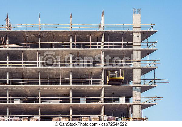 bâtiment, site., construction, extérieur, nouveau - csp72544522