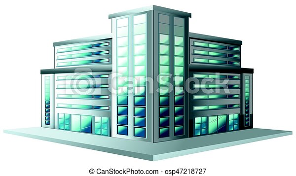 Bâtiment style moderne bureau. bâtiment style moderne