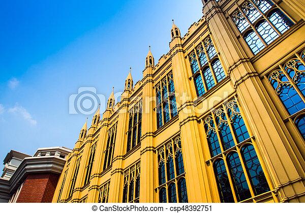Beau, bâtiment, style victorien, architecture images de stock ...