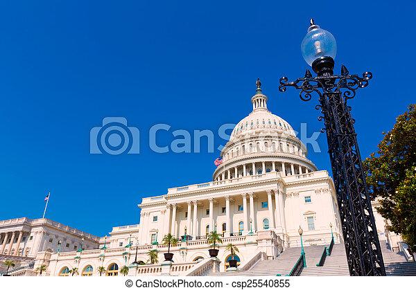 bâtiment, usa, capitole, congrès, washington dc - csp25540855