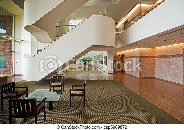 bâtiment, vestibule, bureau - csp5969872