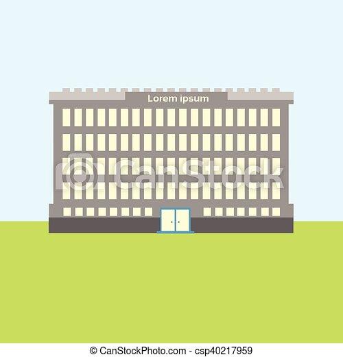 bâtiment, ville, école, propriété, vue extérieure - csp40217959