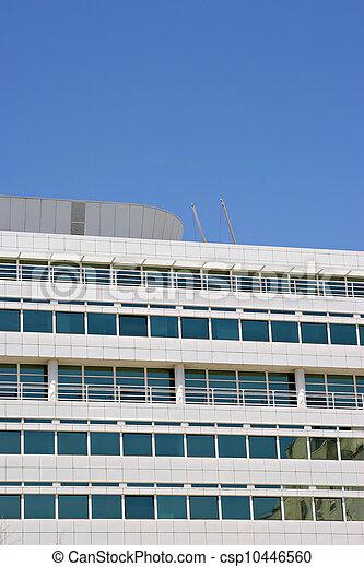bâtiment, vitreux, bureau - csp10446560