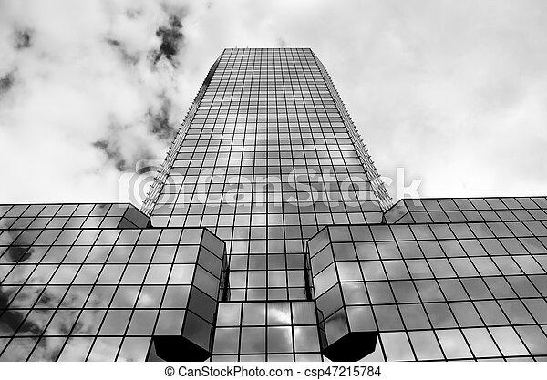 bâtiment, vitreux, coup, moderne, fond - csp47215784
