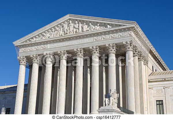 bâtiment, washington, cour suprême, dc - csp16412777