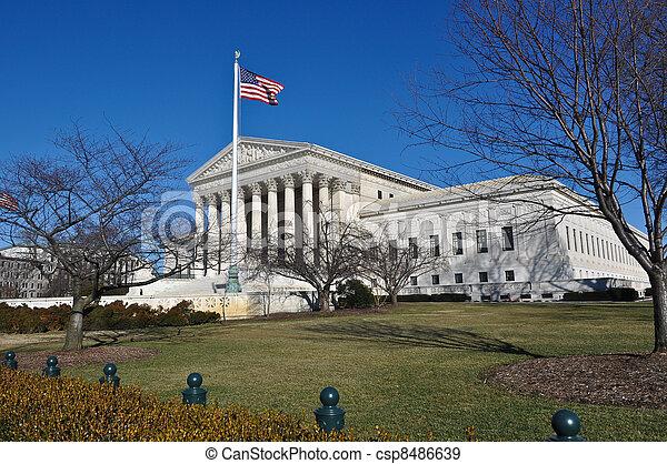 bâtiment, washington, cour suprême, dc - csp8486639