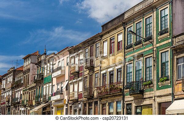 bâtiments, district, portugal, résidentiel, campanha, porto - csp20723131