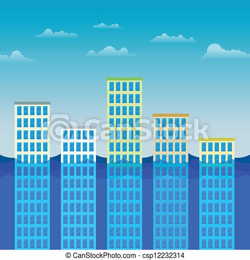 bâtiments, floo, bureau, survivant - csp12232314