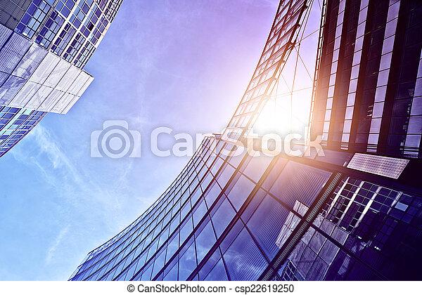 bâtiments, moderne, bureau - csp22619250