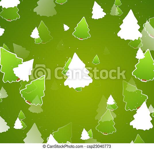 bäume, design, weihnachten, abbildung - csp23040773