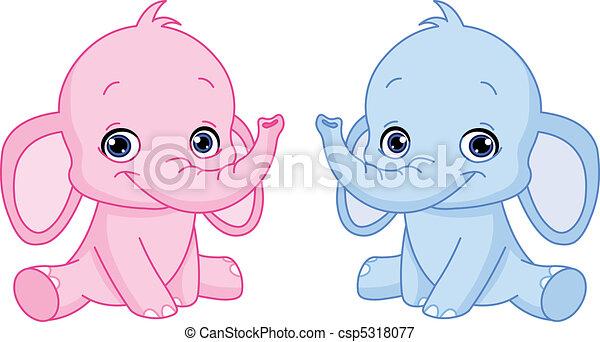 bébé, éléphants - csp5318077