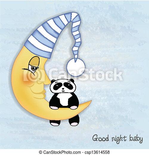 bébé, accueil, salutations, carte - csp13614558