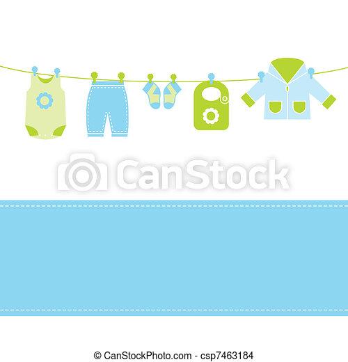 bébé, carte, arrivée - csp7463184