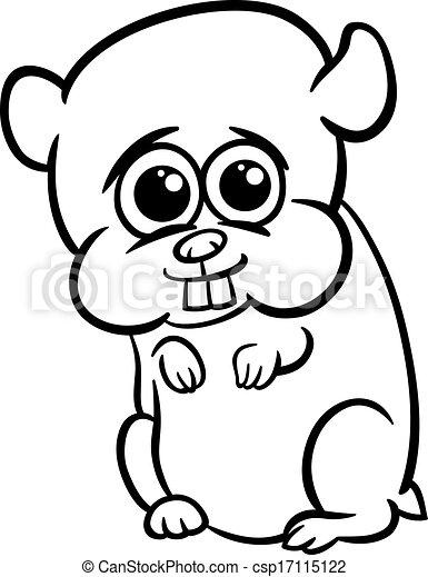 B b dessin anim coloration hamster page mignon peu - Hamster dessin anime ...