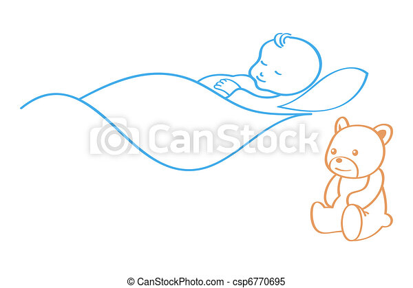 bébé, dormir - csp6770695
