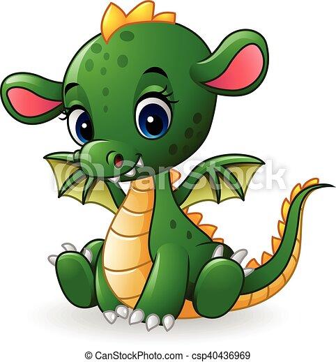 Bébé Dragon Dessin Animé Séance
