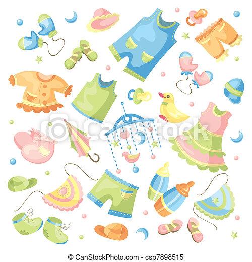 bébé, ensemble, habillement - csp7898515