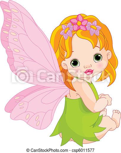 bébé, fée, mignon - csp6011577