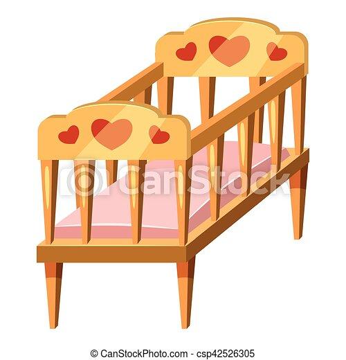 b b ic ne style dessin anim lit ic nes toile lit vecteur illustration b b icon. Black Bedroom Furniture Sets. Home Design Ideas