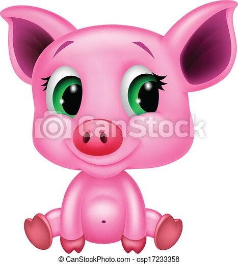 B b mignon dessin anim cochon mignon illustration - Dessin cochon mignon ...