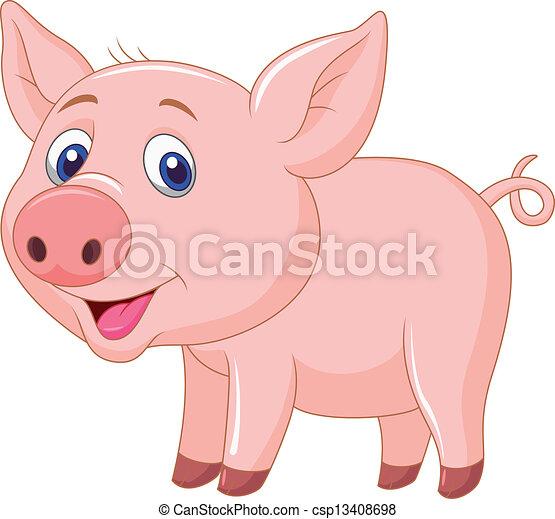 B b mignon dessin anim cochon mignon illustration cochon vecteur b b dessin anim - Image de cochon mignon ...