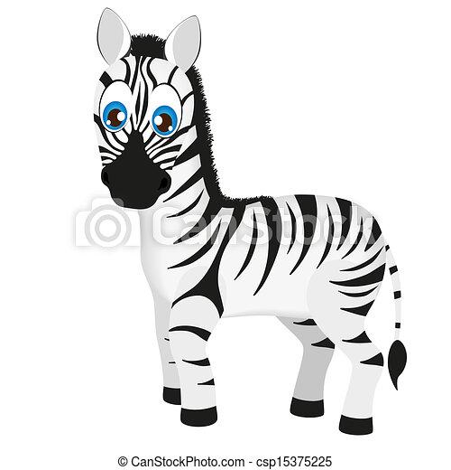 Bébé Mignon Dessin Animé Vecteur Zebra Mignon Dessin Animé