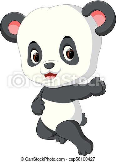 Bébé Mignon Panda Dessin Animé