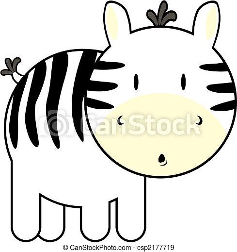 Bébé Mignon Zebra Individu Très Isolé éditer Objets Facile