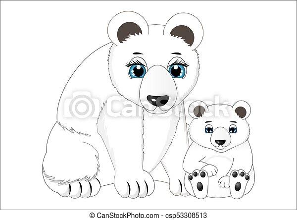 Bébé Ours Blanc Mère