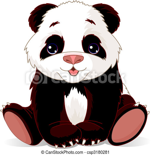 Mignon Tres Illustration Vecteur Bebe Panda