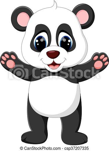 B b panda dessin anim b b mignon panda - Dessins de panda ...