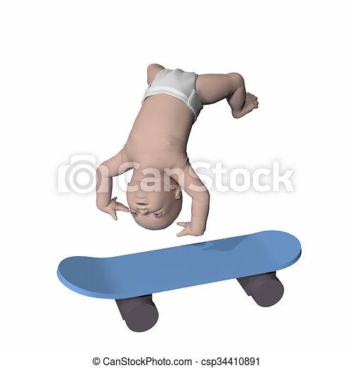 la meilleure attitude 4718e 95421 bébé, panneau patin