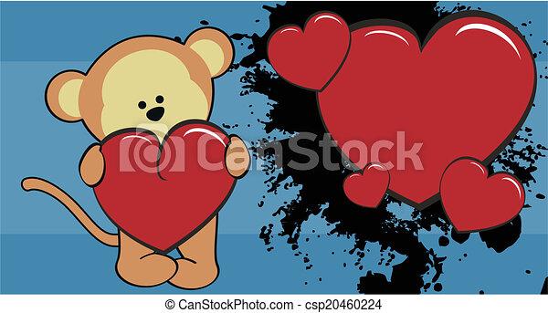 b b papier peint amour singe dessin anim amour singe format papier peint vecteur. Black Bedroom Furniture Sets. Home Design Ideas