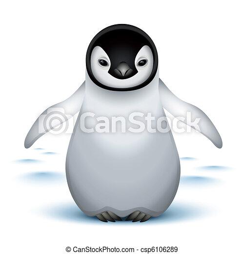 bébé, peu, empereur pingouin - csp6106289