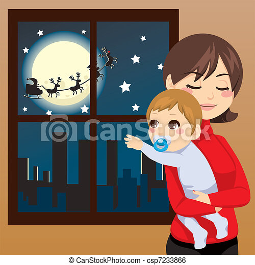 bébé, souhait, noël - csp7233866
