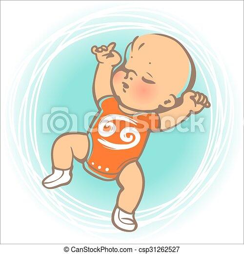 bébé, zodiaque, cancer - csp31262527